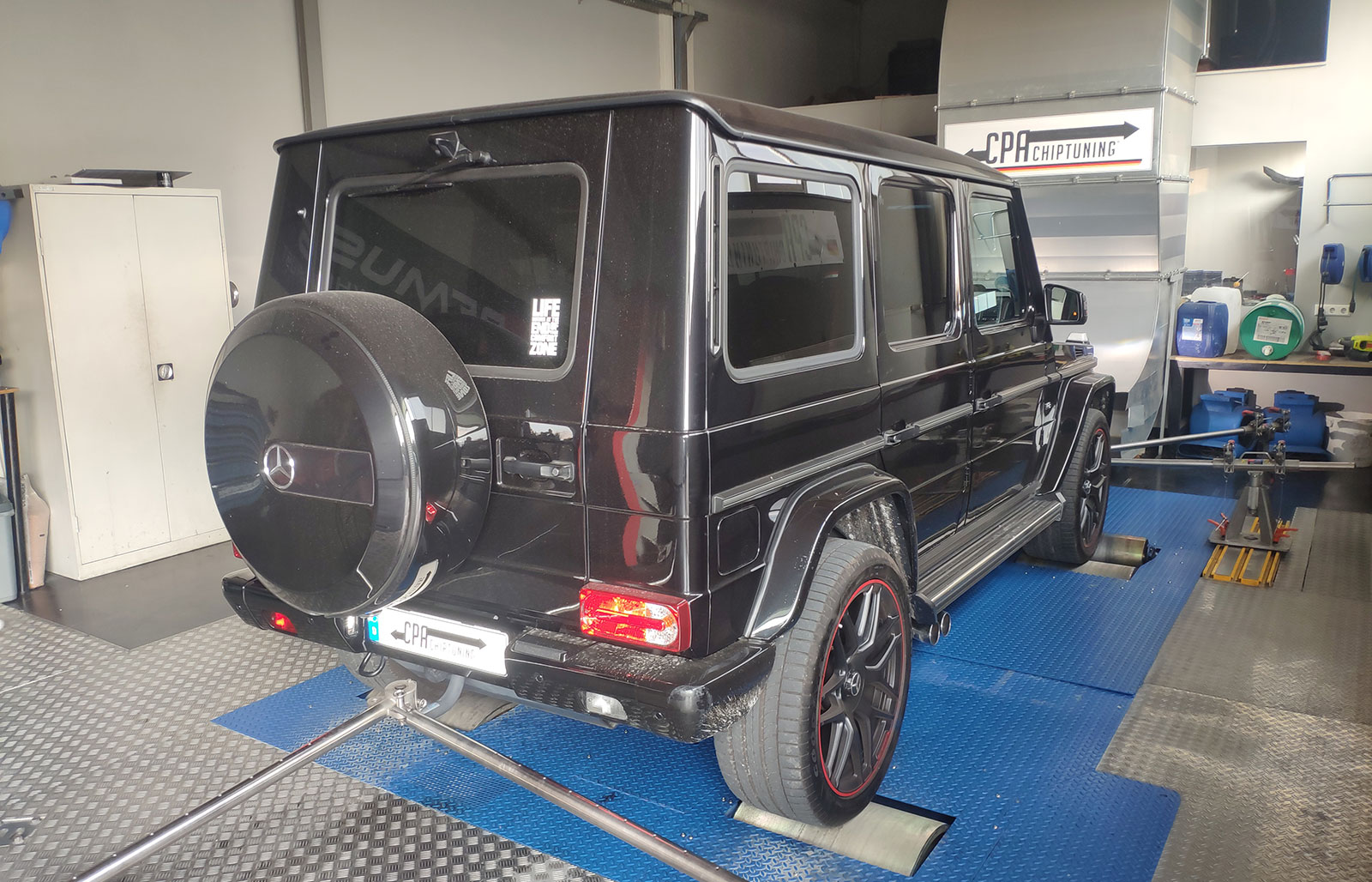 Mercedes G 500 on the dyno